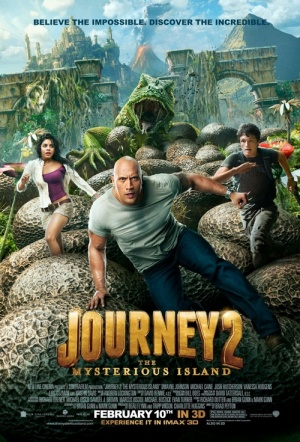 Journey 2: The Mysterious Island 3D Film Poster