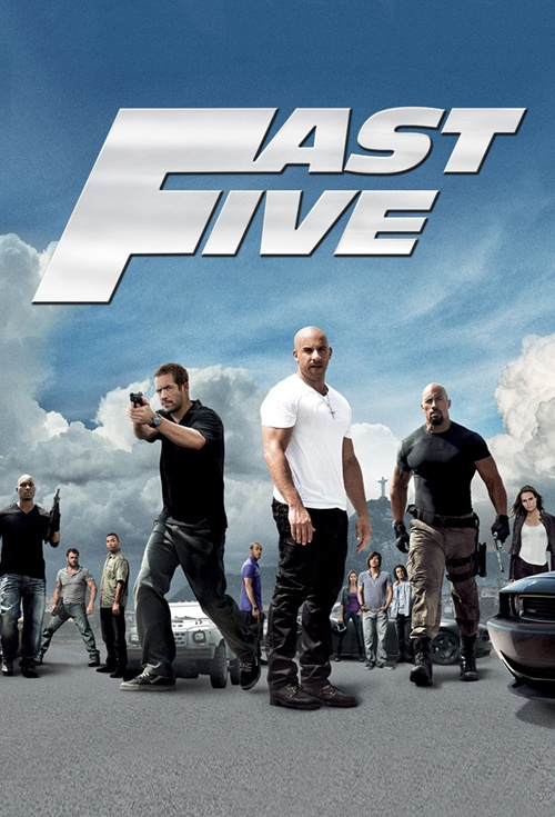 movie poster for fast furious 5. Black Bedroom Furniture Sets. Home Design Ideas