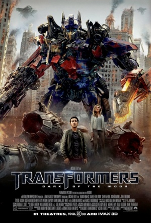 Transformers: Dark of the Moon 3D Film Poster