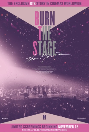 Burn the Stage: The Movie Film Poster