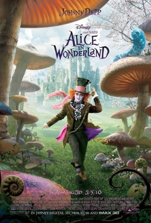 Alice in Wonderland 3D Film Poster
