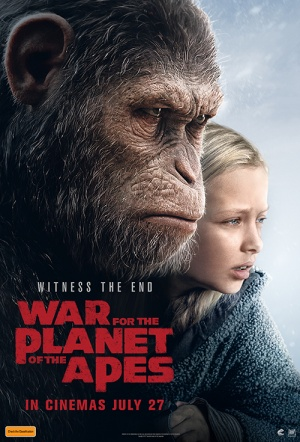 War for the Planet of the Apes 3D Film Poster