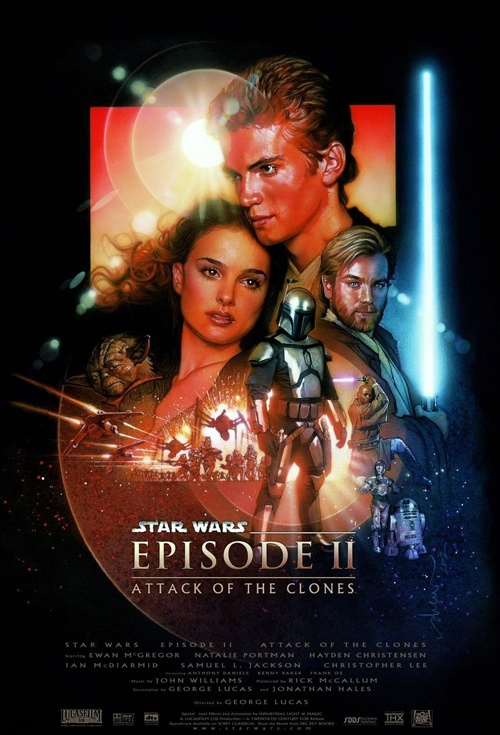 Star Wars: Episode II - Attack of the Clones 3D Film Poster
