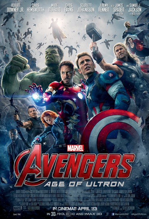 Avengers: Age of Ultron 3D Film Poster