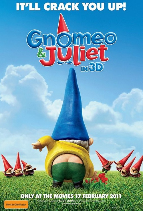 Gnomeo and Juliet 3D Film Poster