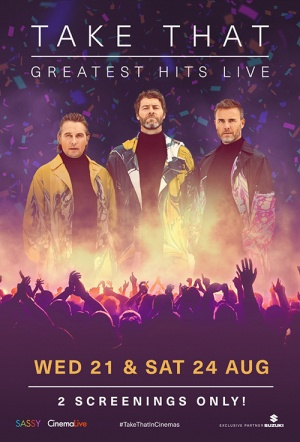 Take That: Greatest Hits Live Film Poster