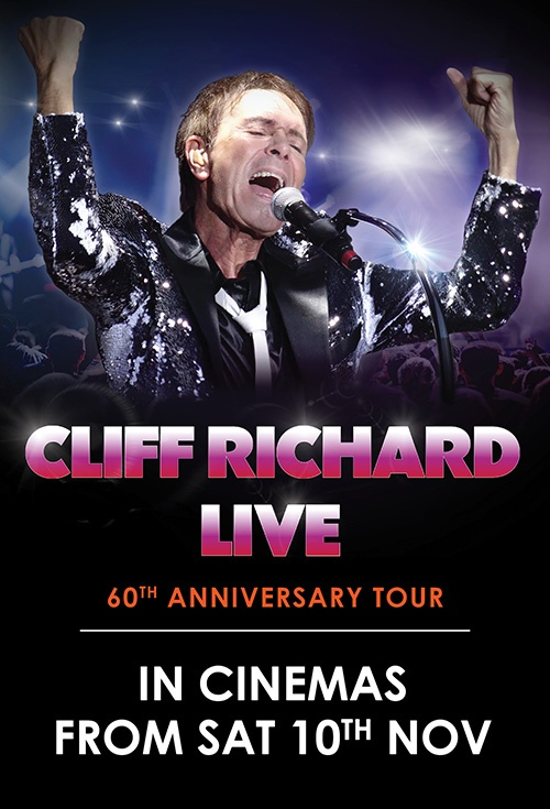 Movie Poster For Cliff Richard Live 60th Anniversary Tour