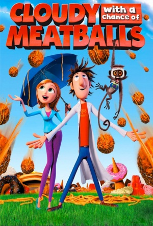 Cloudy with a Chance of Meatballs 3D Film Poster