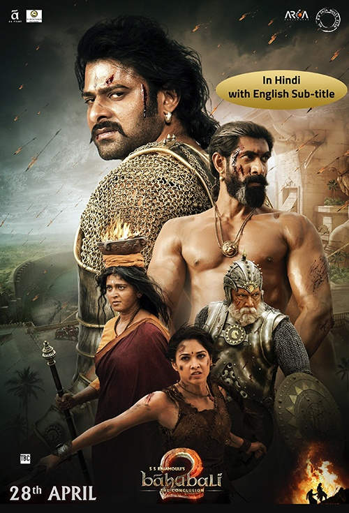 movie poster for baahubali 2 the conclusion hindi flicks co nz