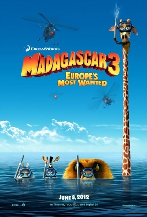 Madagascar 3: Europe's Most Wanted 3D Film Poster