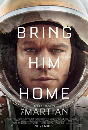 The Martian 3D Film Poster