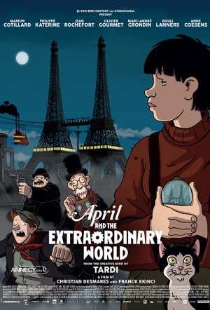 April and the Extraordinary World Film Poster