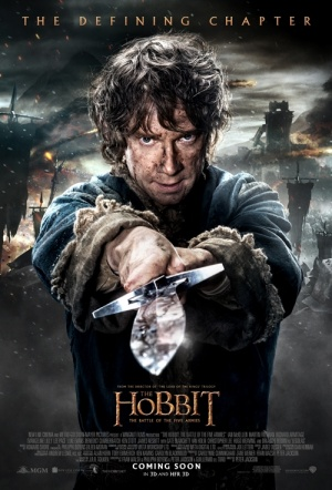 The Hobbit 3D HFR: The Battle of the Five Armies Film Poster