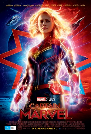 Captain Marvel 3D Film Poster