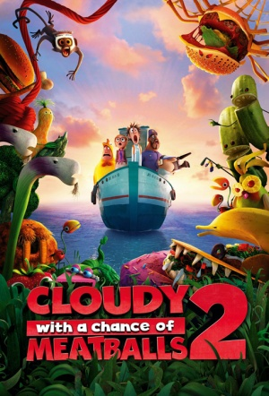 Cloudy with a Chance of Meatballs 2 3D Film Poster