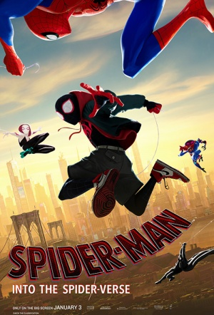 spider man 3d into the spider verse film poster
