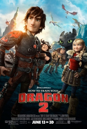 How to Train Your Dragon 2 3D Film Poster