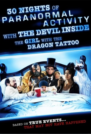 30 Nights of Paranormal Activity with the Devil Inside the Girl with the Dragon Tattoo Film Poster