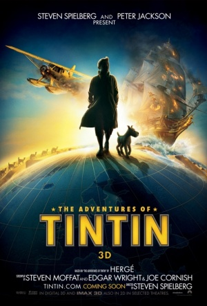 The Adventures of Tintin: Secret of the Unicorn 3D Film Poster