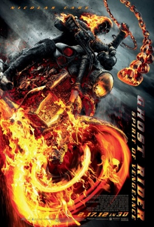 Ghost Rider: Spirit of Vengeance 3D Film Poster