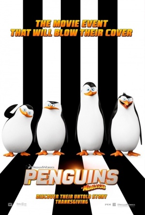The Penguins of Madagascar 3D Film Poster
