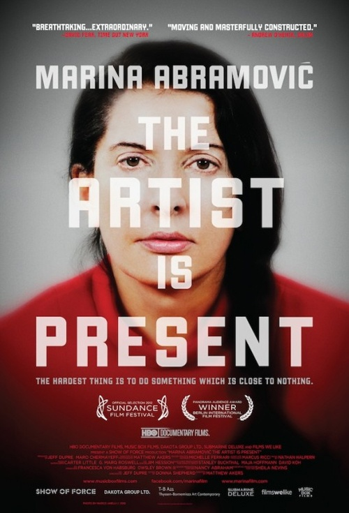 Marina Abramovic The Artist Is Present Movie Poster