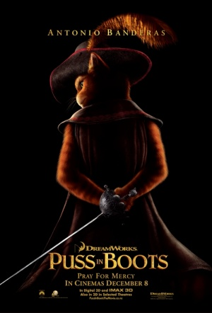 Puss In Boots 3D Film Poster