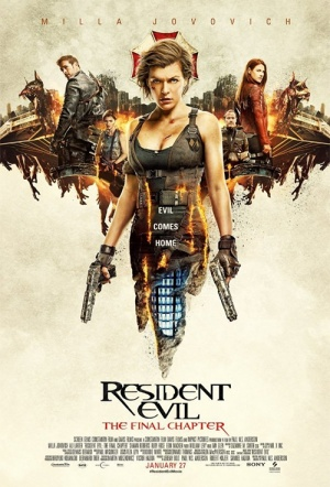 Resident Evil 3D: The Final Chapter Film Poster