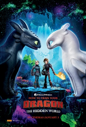 How to Train Your Dragon 3D: The Hidden World Film Poster