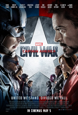 Captain America 3D: Civil War Film Poster