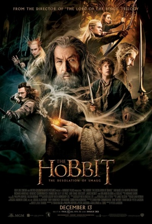 The Hobbit: The Desolation of Smaug 3D Film Poster