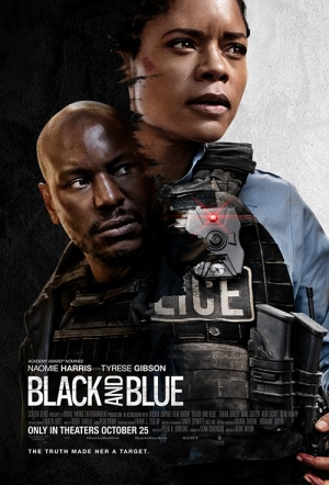 Black and Blue Film Poster