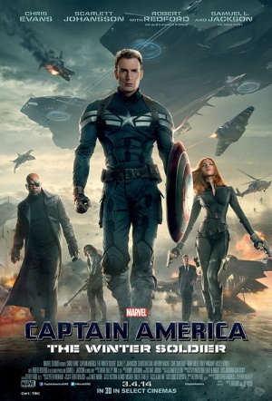 Captain America: The Winter Soldier 3D Film Poster