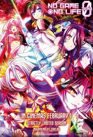 No Game, No Life The Movie: Zero Film Poster