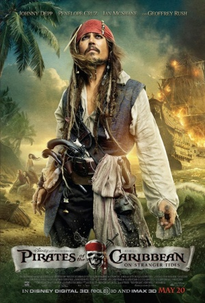 Pirates of the Caribbean: On Stranger Tides 3D Film Poster